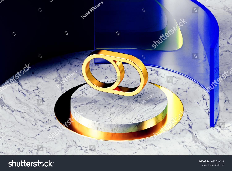 Golden Toggle Off Symbol On White Stock Illustration Royalty Free