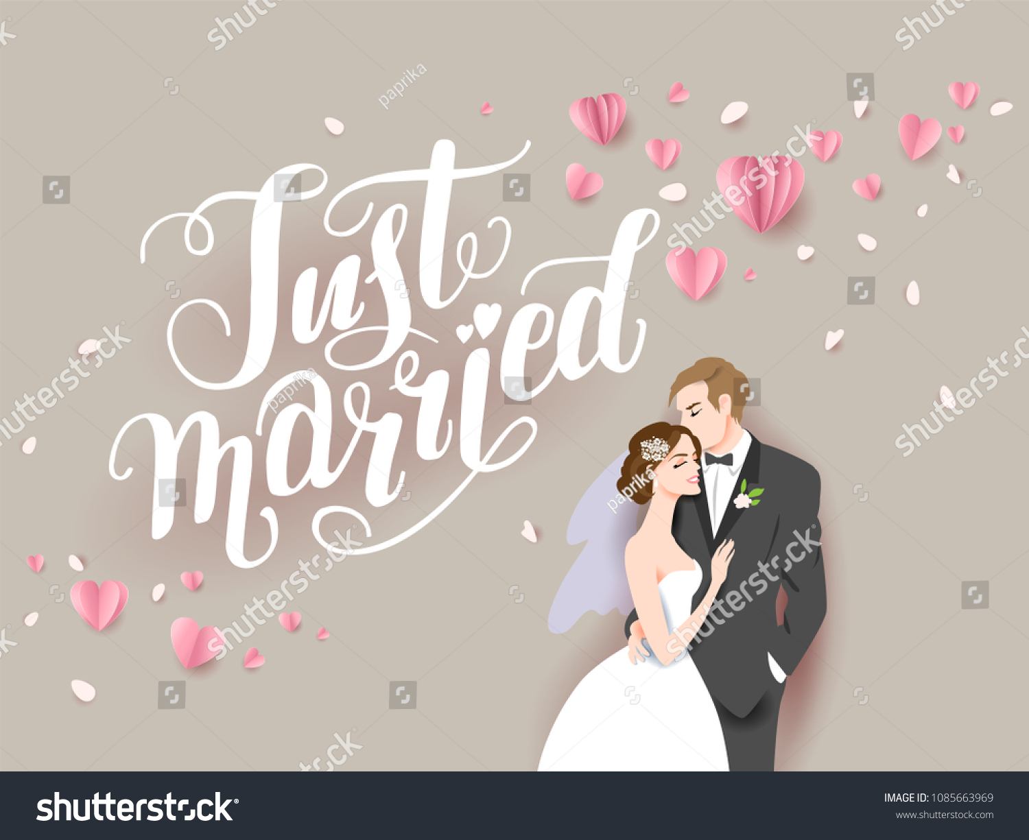 Wedding Ceremony Card Paper Cut Craft Stock Image Download Now