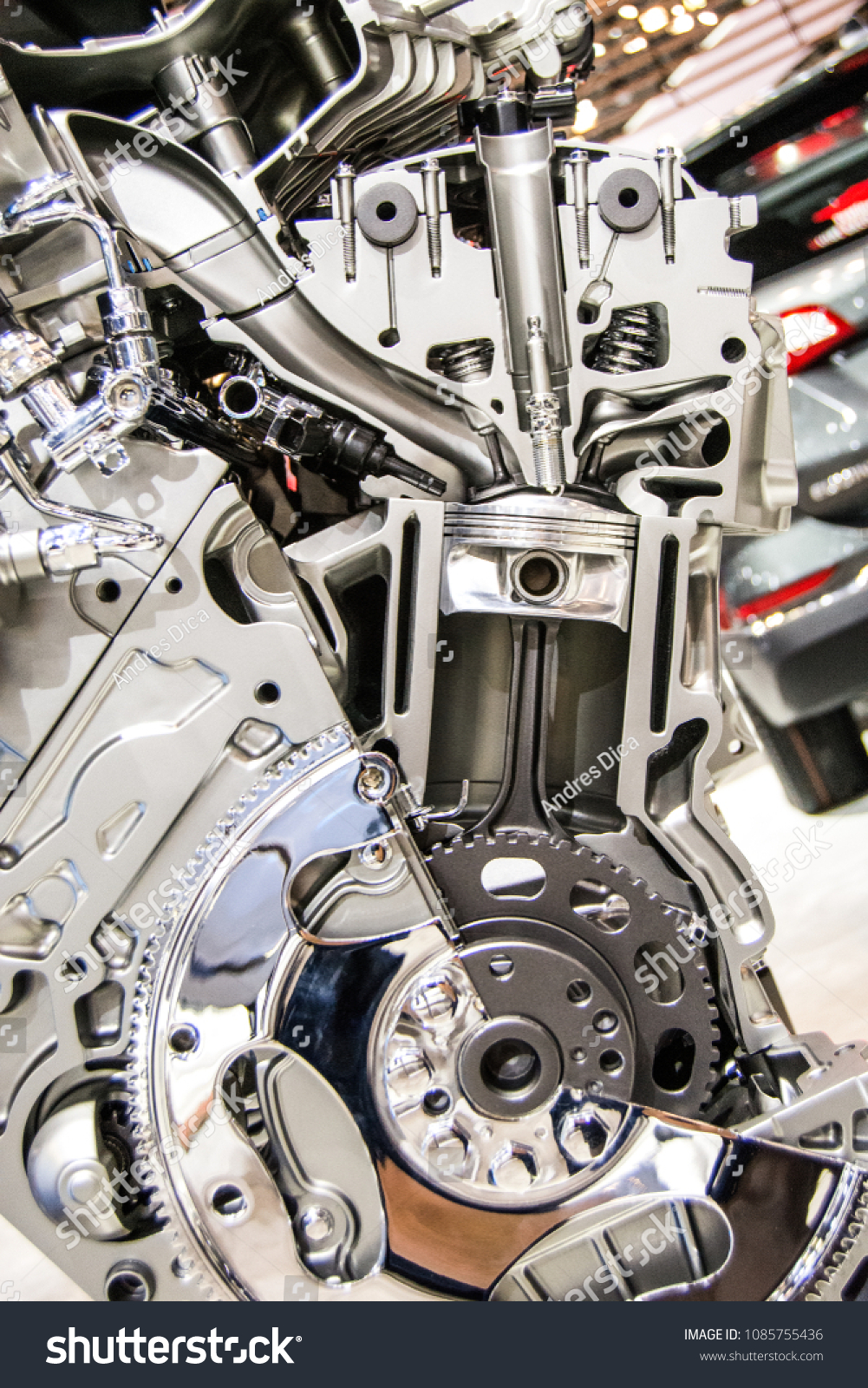 Car Engine Components Stock Photo (Royalty Free) 1085755436 ...