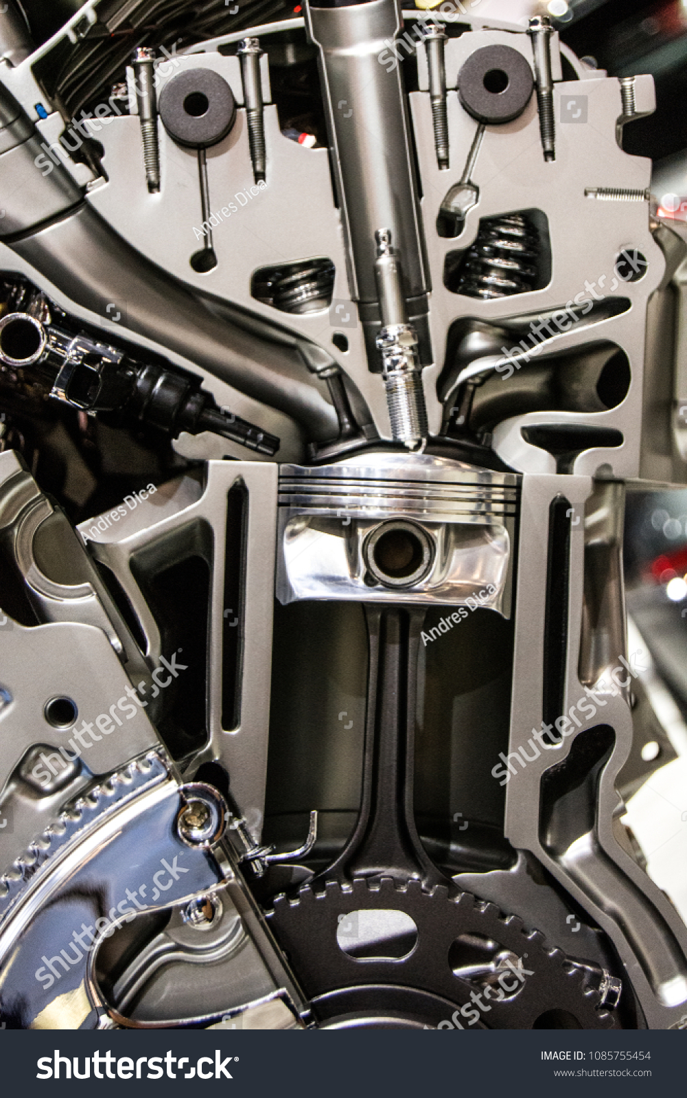 Car Engine Components Stock Photo (Edit Now) 1085755454 - Shutterstock