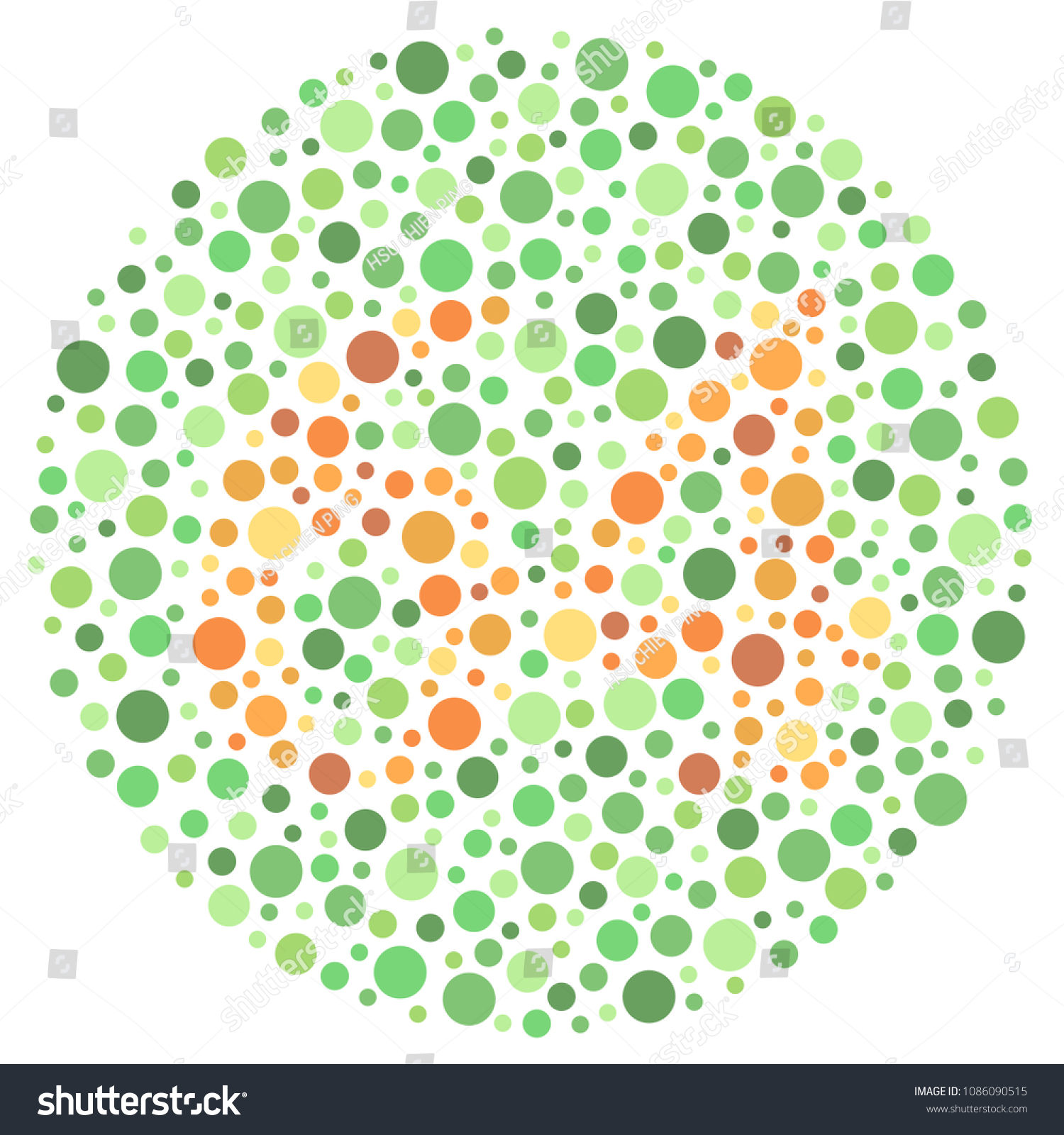 Ishihara Test Color Blind Test Stock Vector (2018) 1086090515 ...