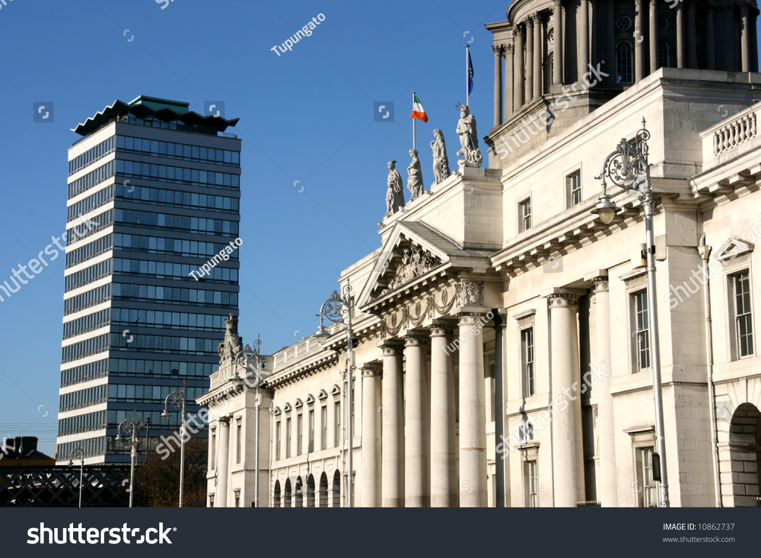 Modern Architecture Dublin dublin architecture old custom house modern stock photo 10862737