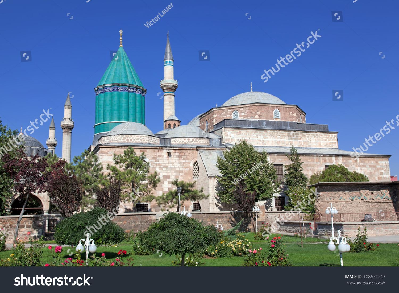 Mevlana Museum Mosque Konya Mausoleum Jalal Stock Photo ...