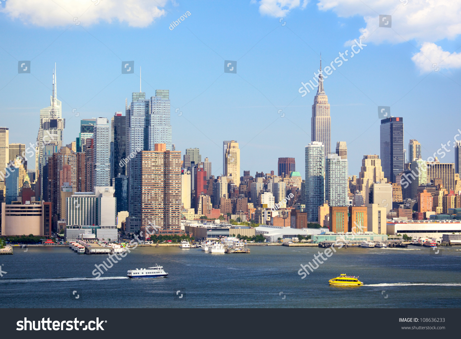 manhattan skyline empire state building over stock photo. Black Bedroom Furniture Sets. Home Design Ideas