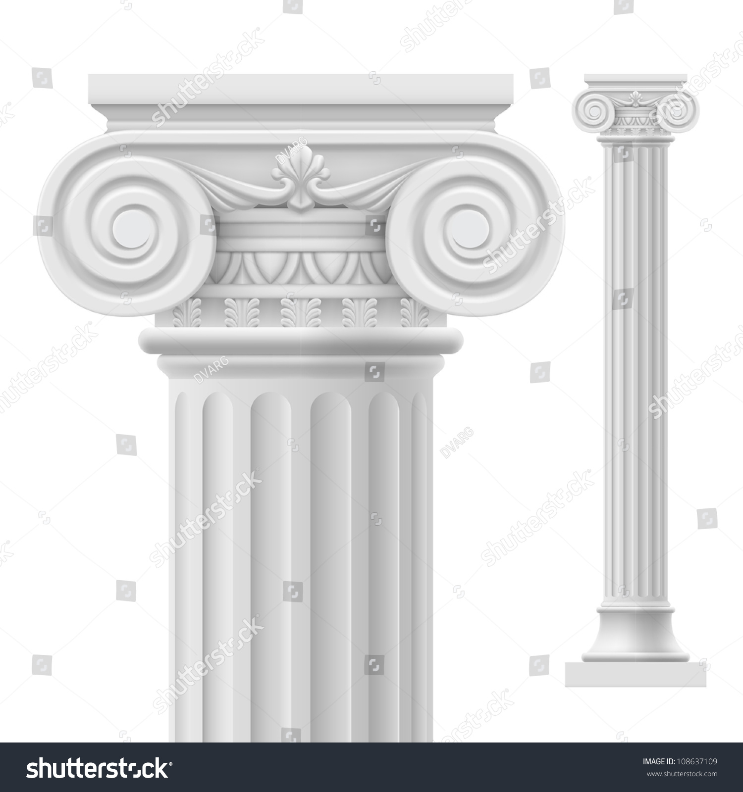 Marble Temple Home Decoration Raster Version Roman Column Illustration On Stock