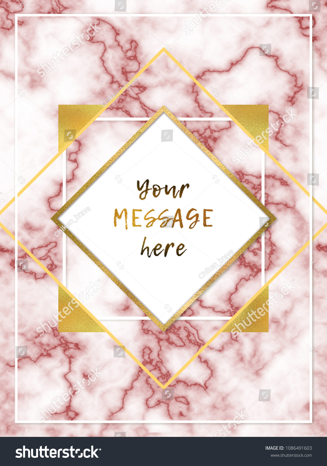 Marble Cover Business Card Background Gold Stock Illustration ...