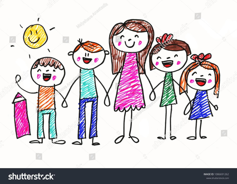 Teacher Little Children Summer Vacation Nursery Stock