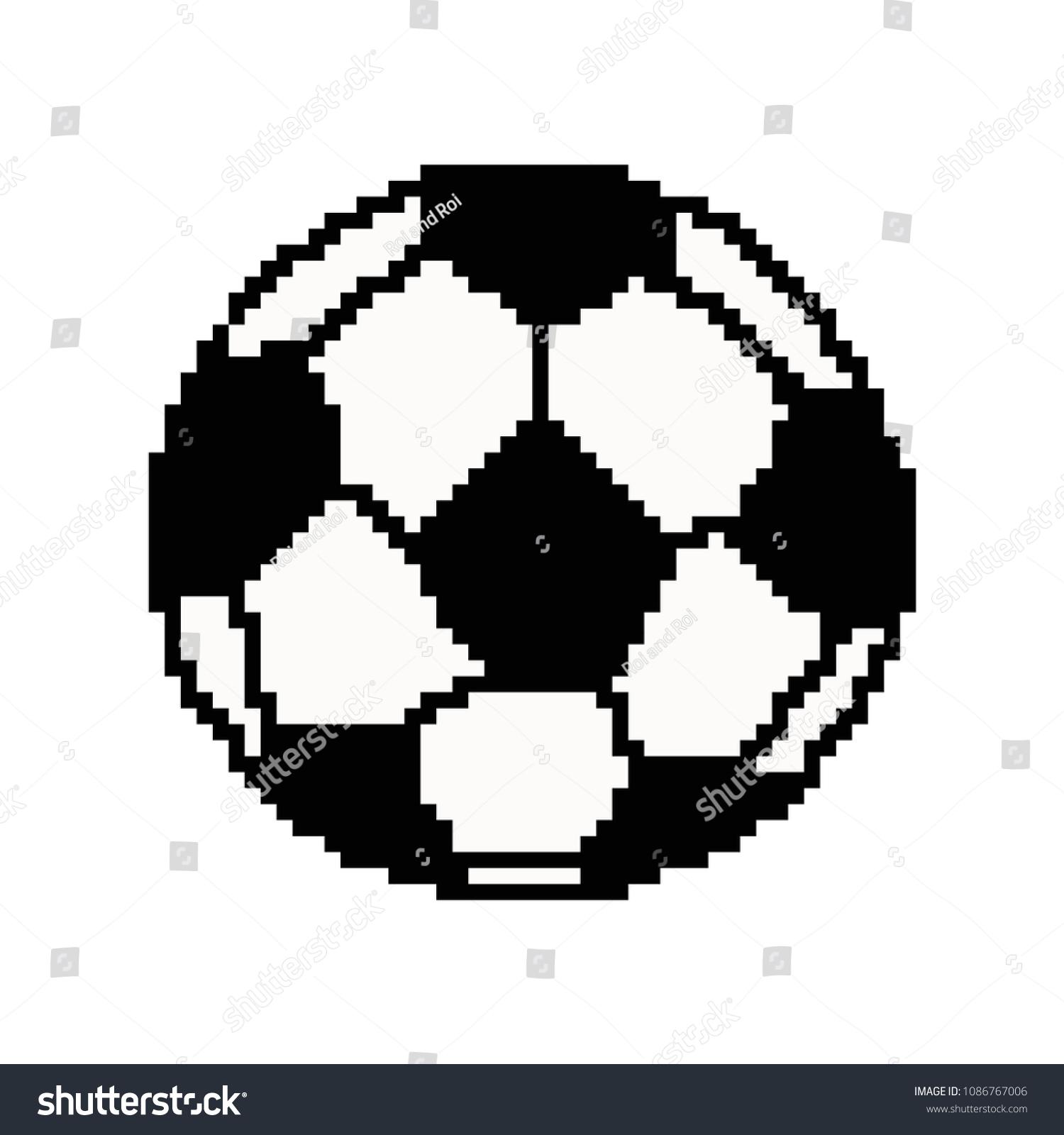 Image Vectorielle De Stock De Pixel Art Football Ball Vector