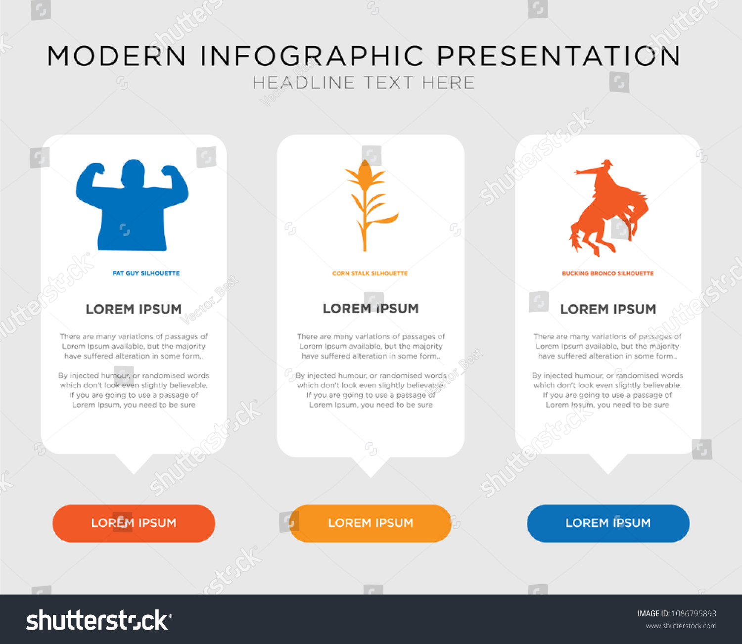 Business Infographic Template Design Bucking Bronco Stock Vector ...