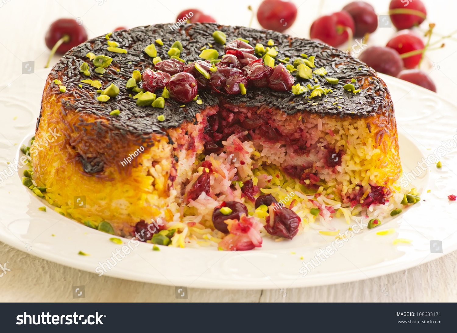 Alboloo Polow Persian Rice Sour Cherries Stock Photo ...
