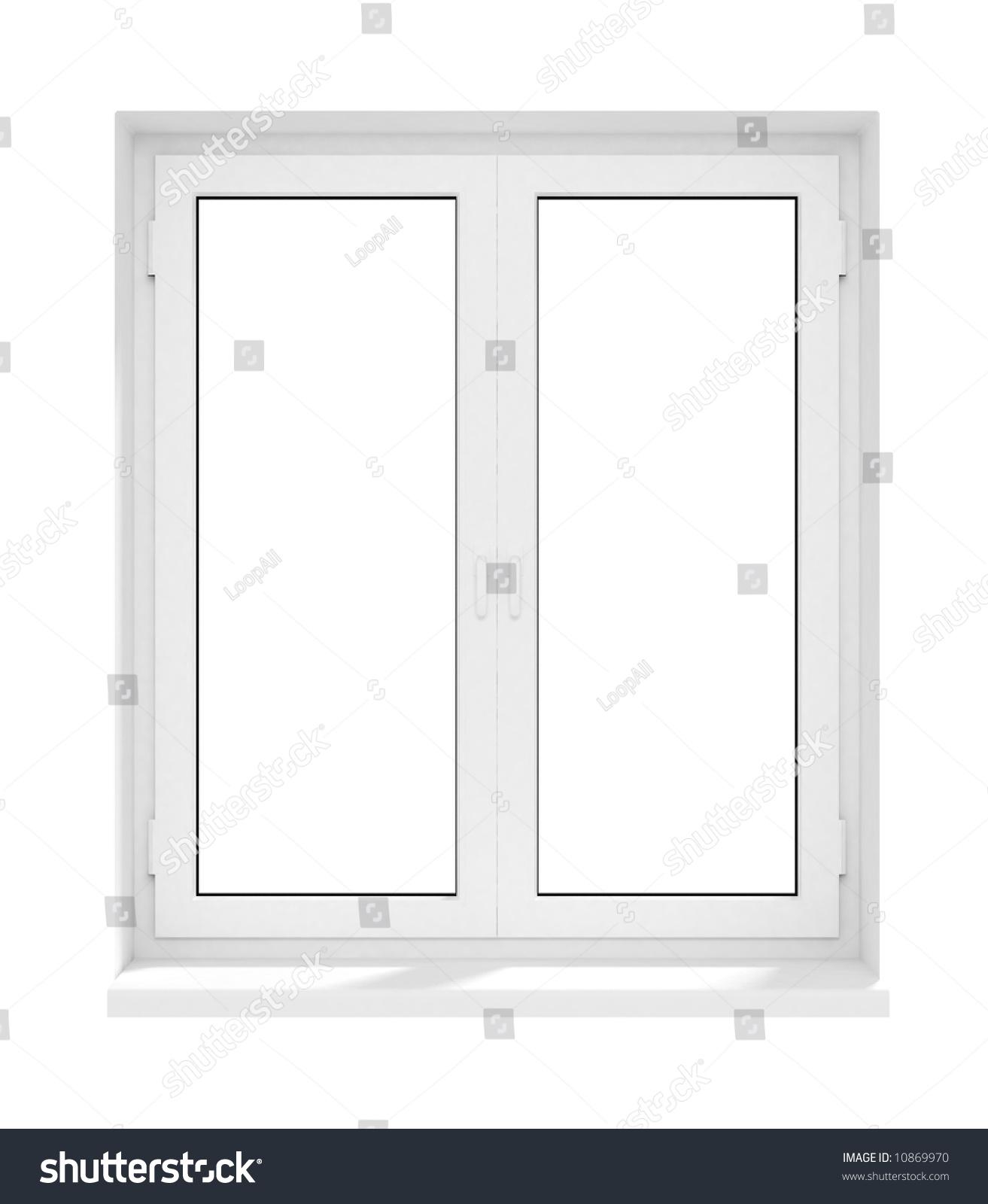New Closed Plastic Glass Window Frame Stock Illustration 10869970 ...