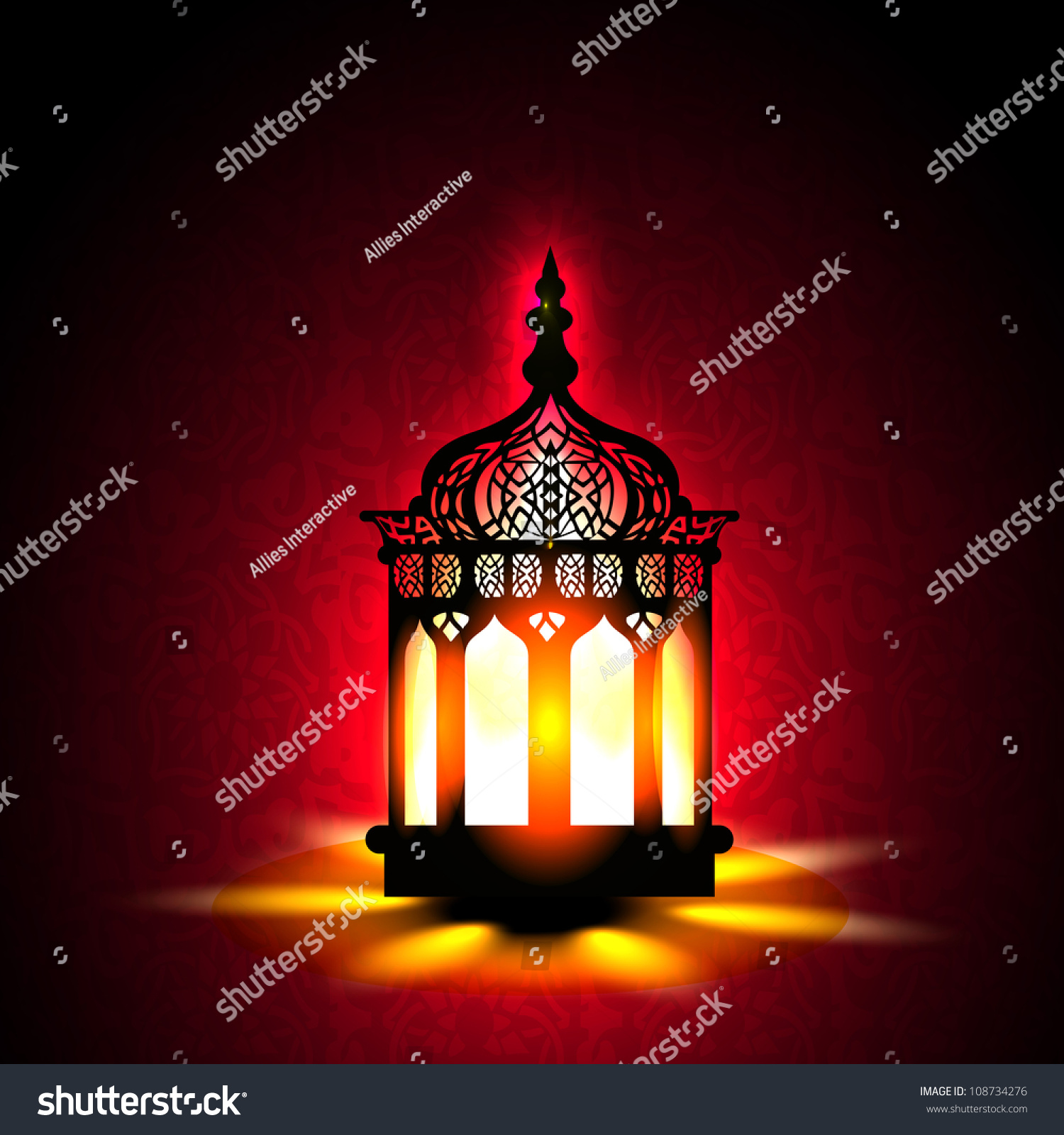 stock intricate illustration vector lamp arabic depositphotos