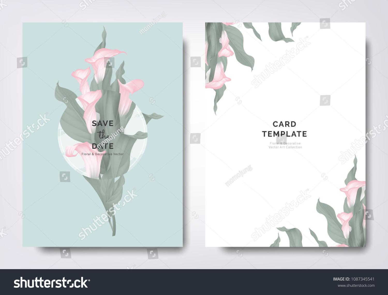 Botanical Wedding Invitation Card Template Design Stock Vector HD ...