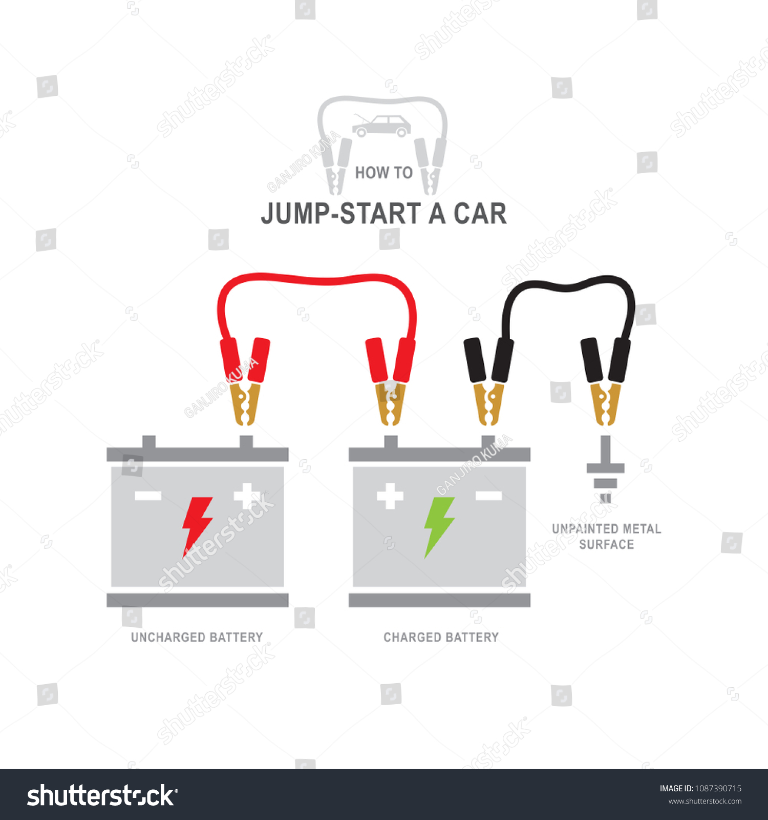 Car Battery Recharging Diagram Jump Start