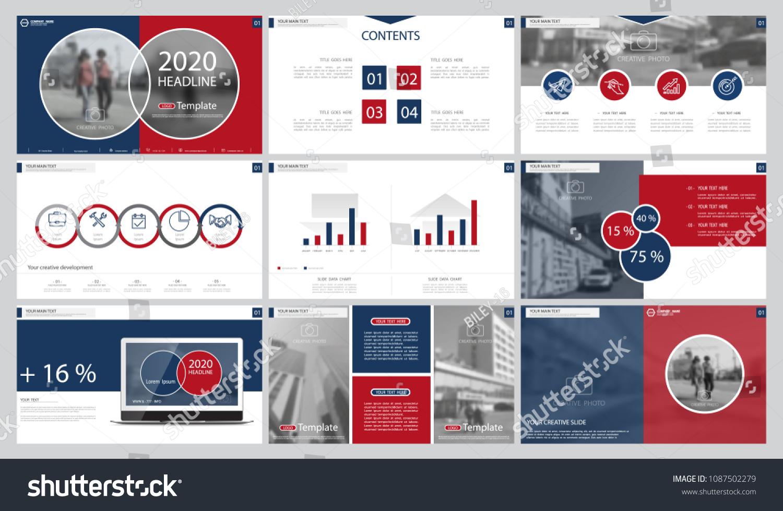 presentation headline template 2020 inscription text stock vector