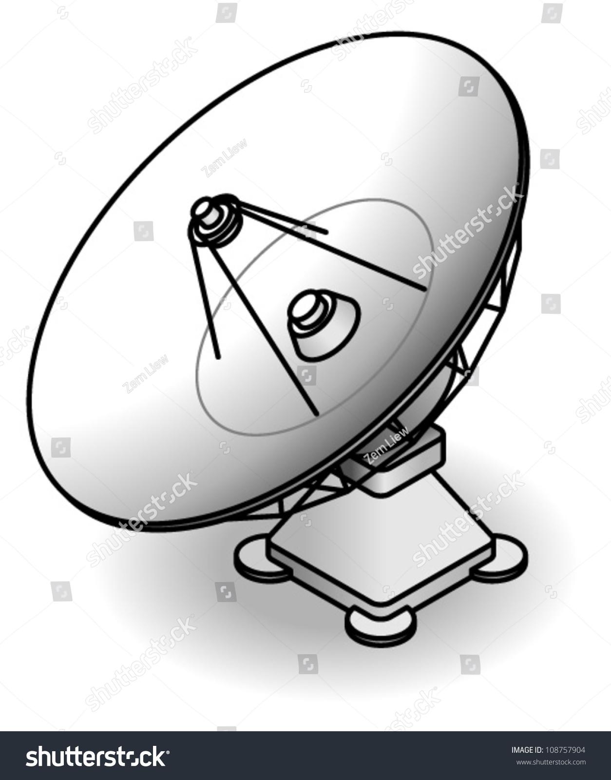 Radio Telescope Dish Stock Vector Royalty Free 108757904 Diagram A
