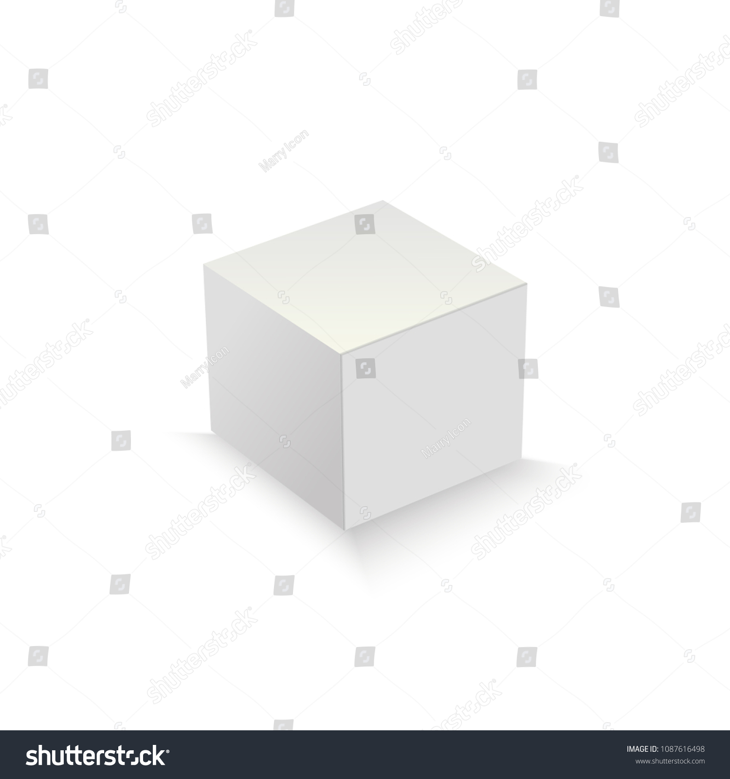 white package box packaging mock template stock vector royalty free