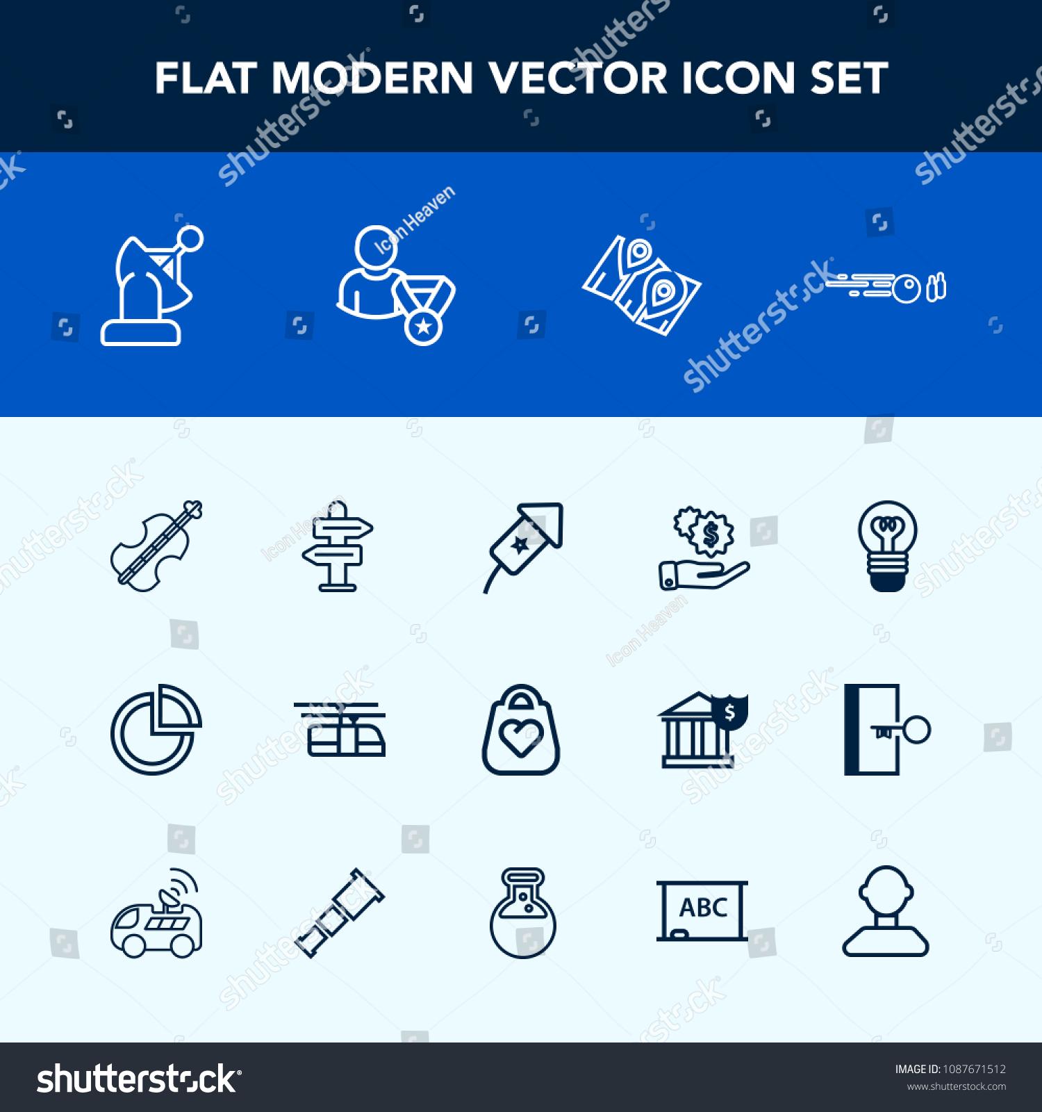 Modern Simple Vector Icon Set Electric Stock Vector Royalty