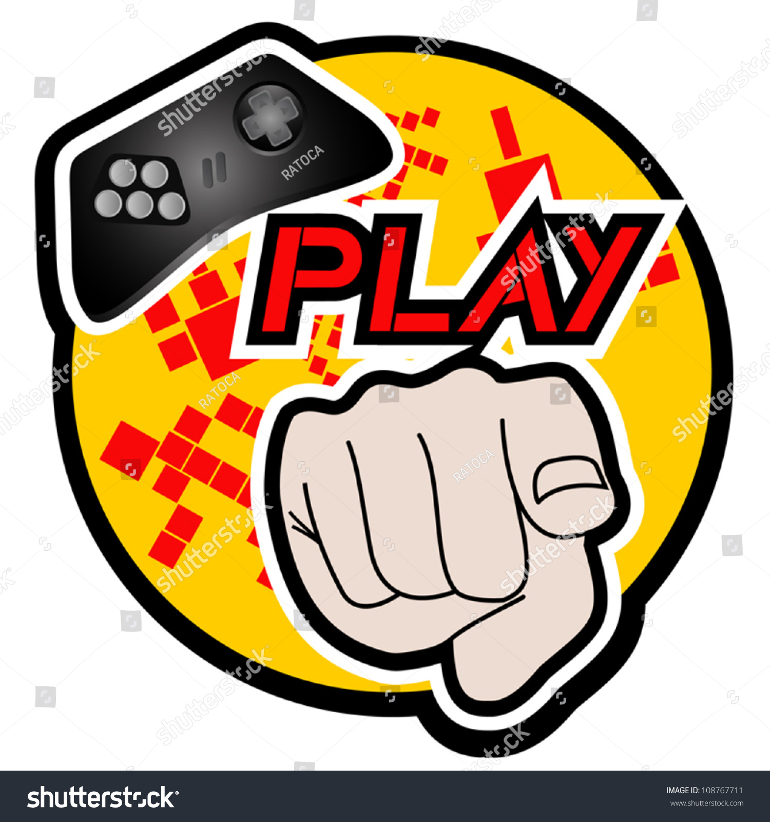 Play Game Stock Vector Royalty Free 108767711 Shutterstock