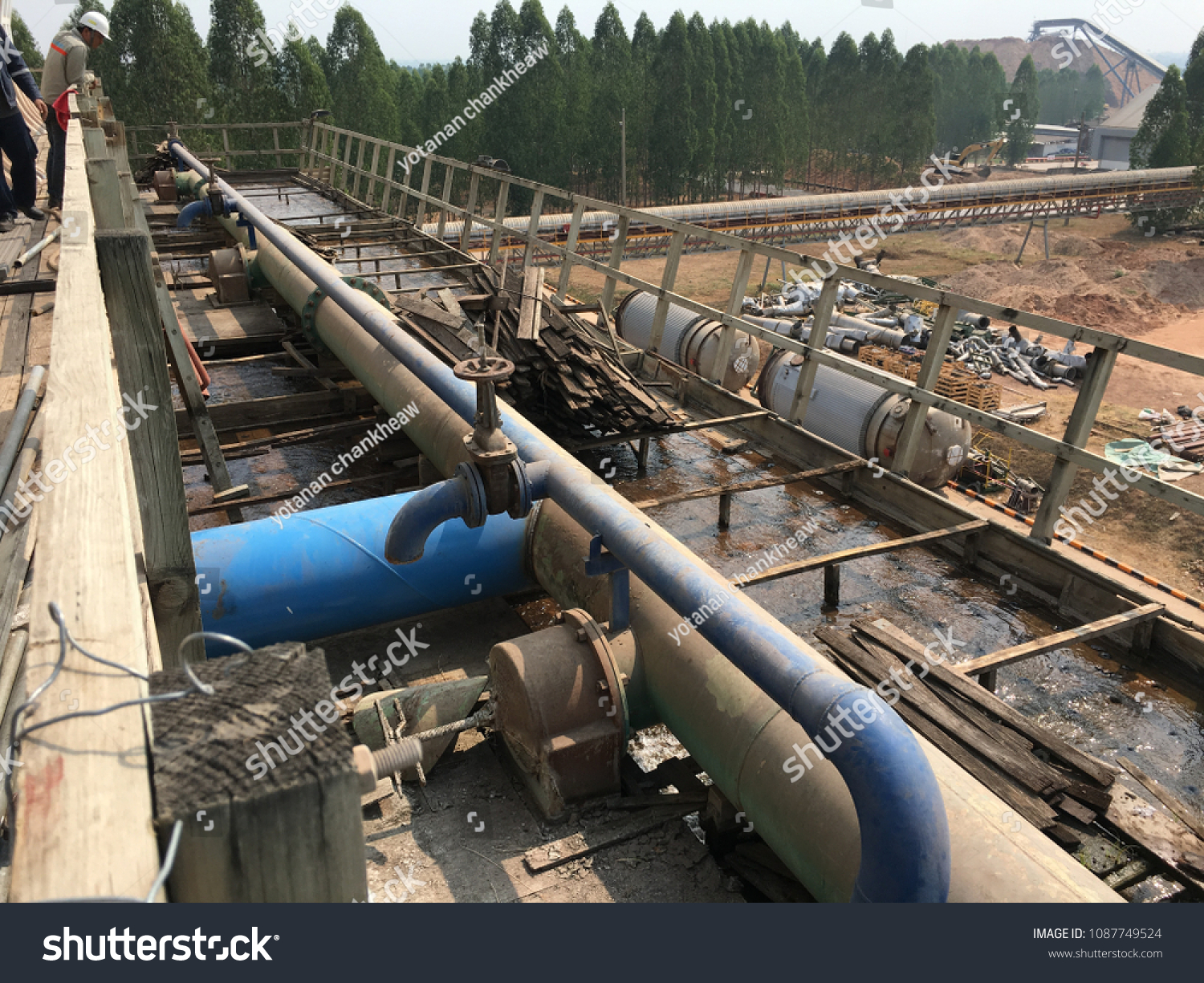 Structure Cooling Tower Between Shutdown Cleaning Stock Photo (Edit