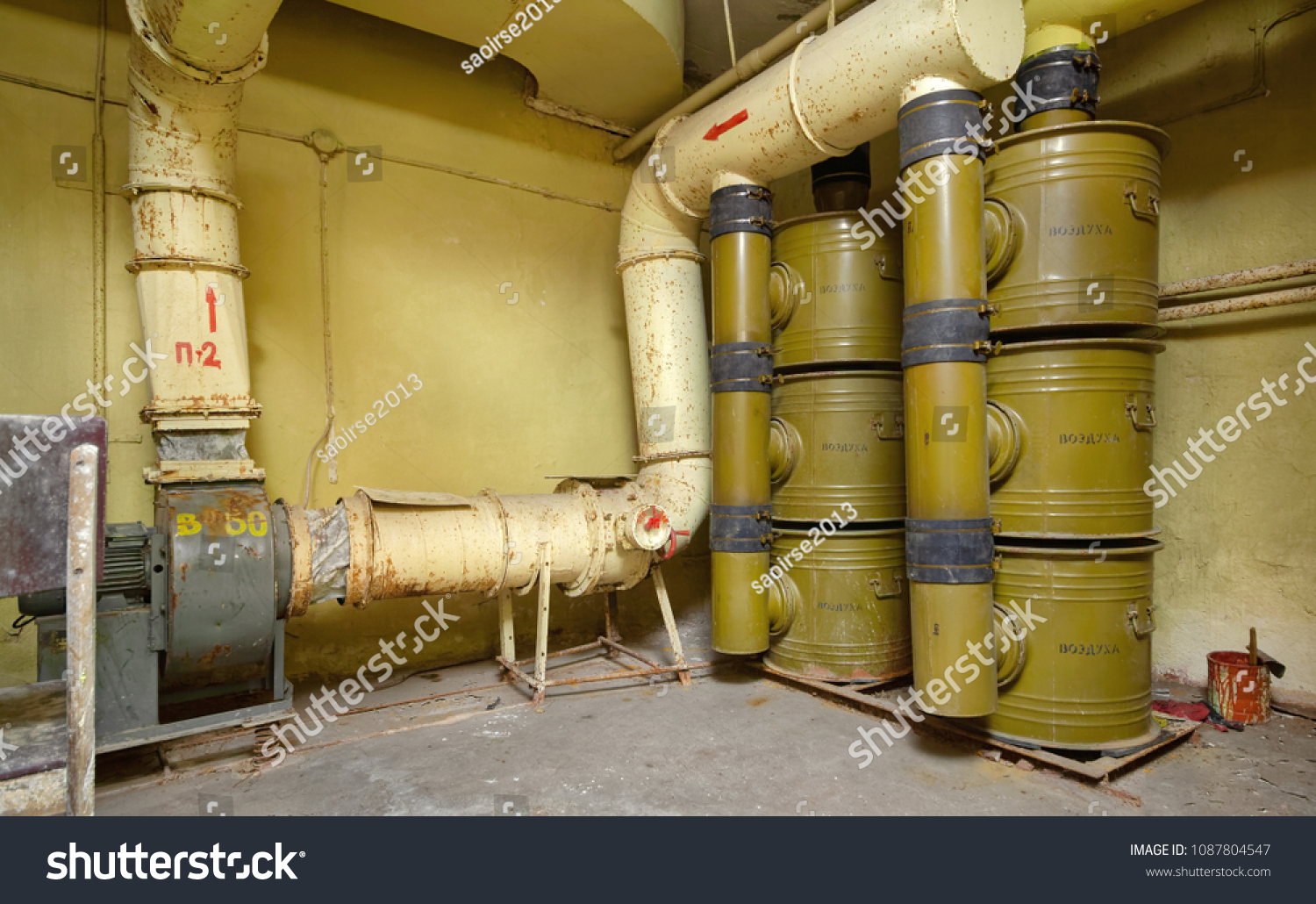 Chemical Threats >> Air Filtration System Chemical Threats Installed Stock Photo Edit