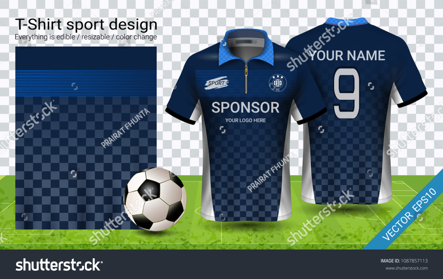 d504dc75a Soccer Jersey Template Sport Polo Tshirt Stock Vector (Royalty Free ...