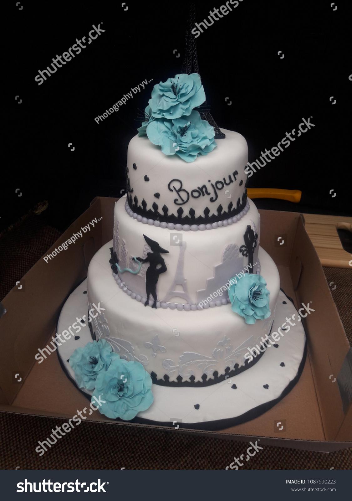 Groovy Paris Birthday Cake Stock Photo Edit Now 1087990223 Funny Birthday Cards Online Alyptdamsfinfo