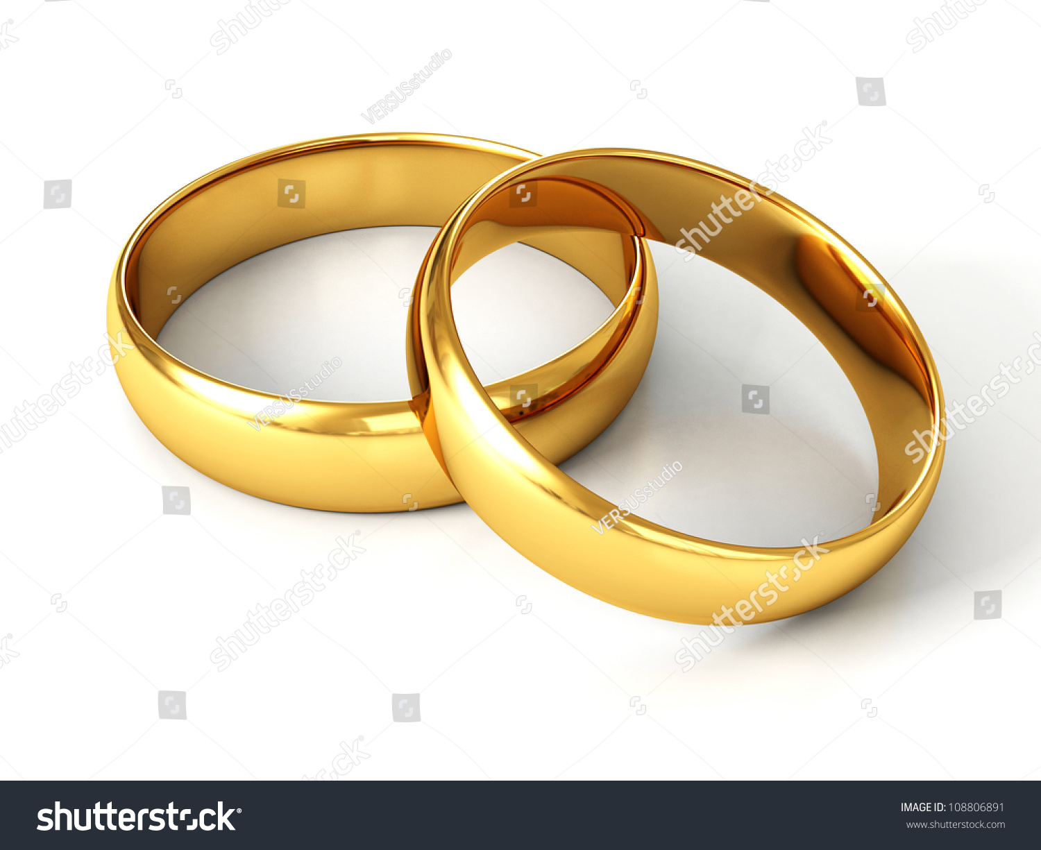 couple of gold wedding rings on white background - Wedding Rings For Couples