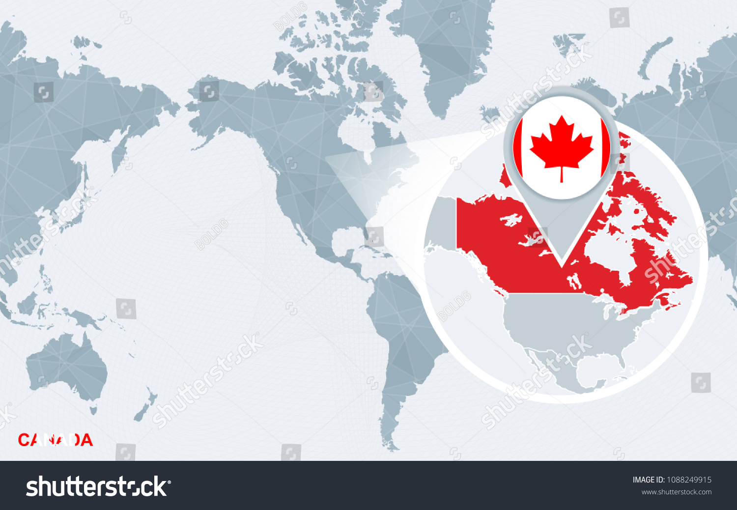 Picture of: World Map Centered On America Magnified Stock Vector Royalty Free 1088249915