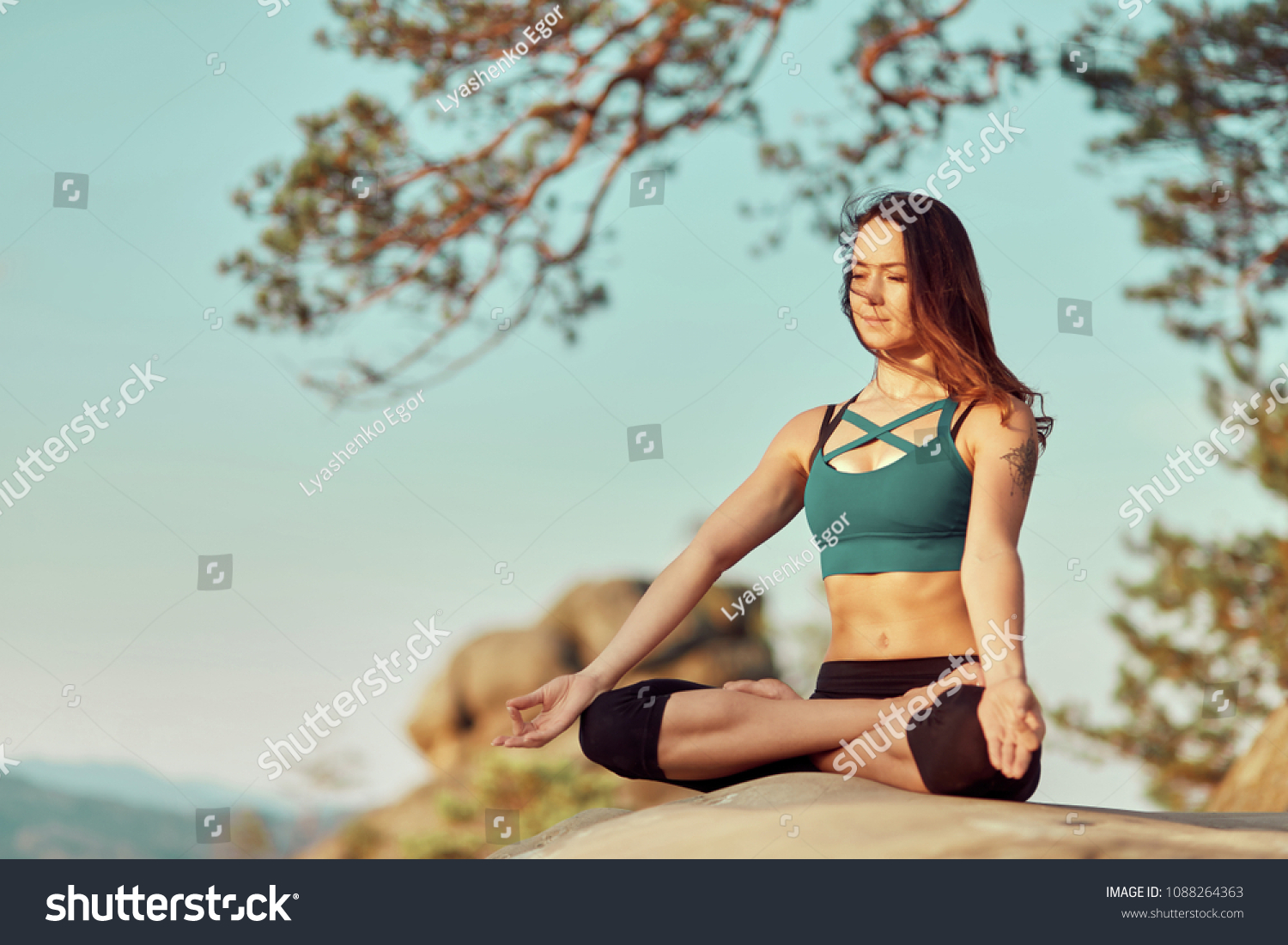 Yoga Woman Yoga Poses Portrait Beautiful Stock Photo Edit Now 1088264363