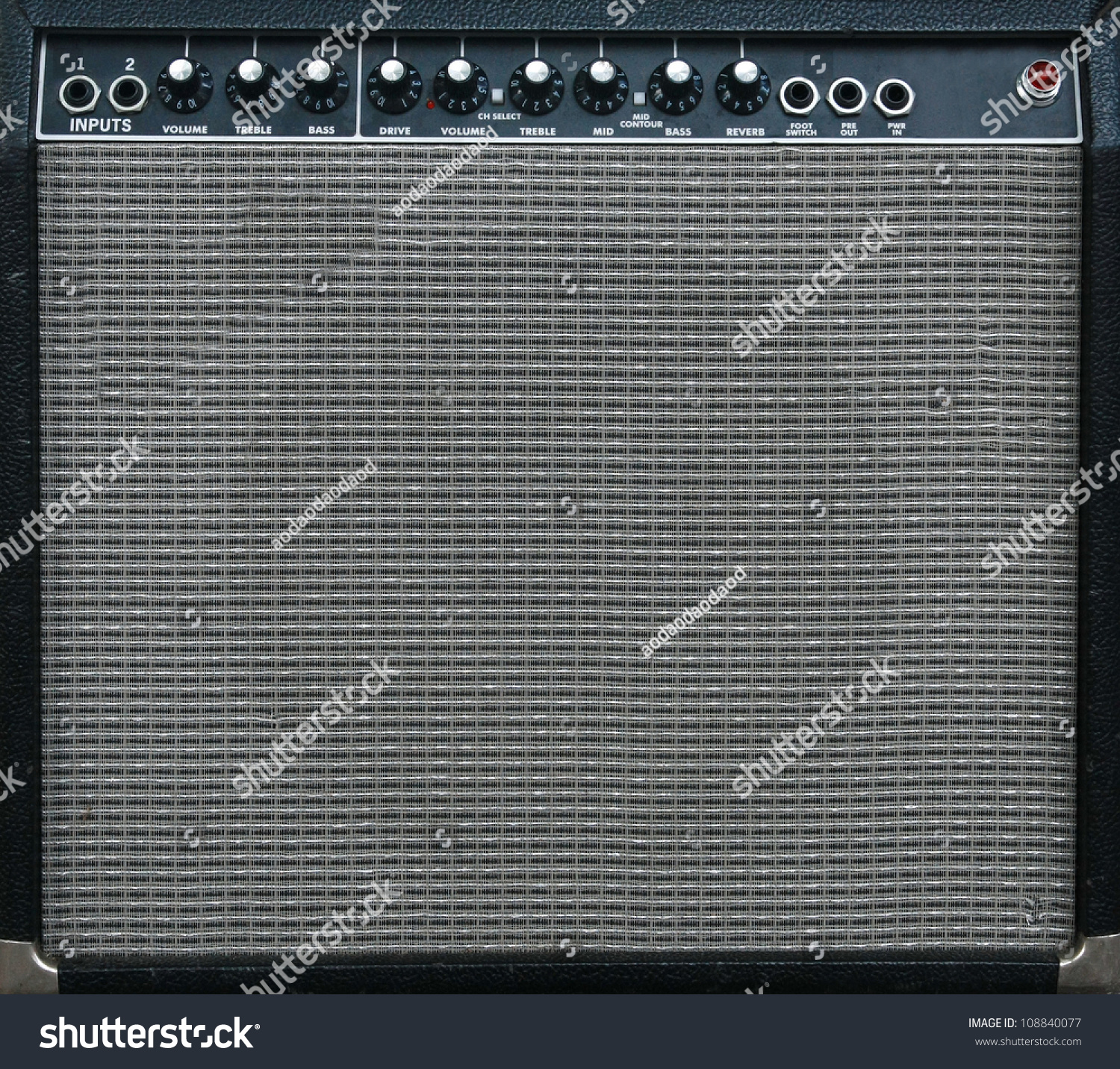 guitar amplifier background stock photo 108840077
