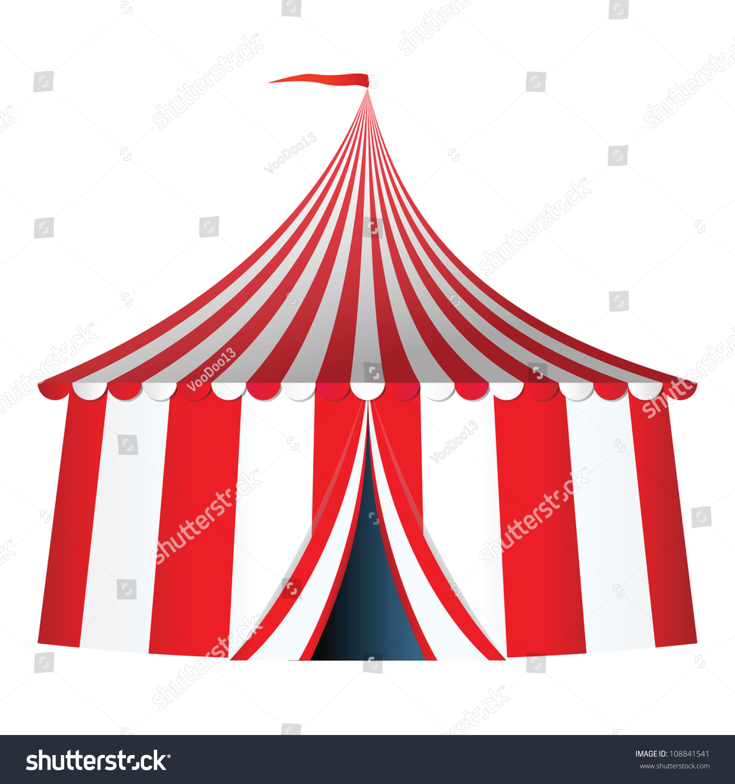 Circus Tent Flag Vector Illustration Stock Vector ...