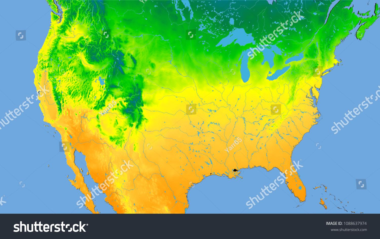 Royalty Free Stock Illustration of United States Mainland Area On ...
