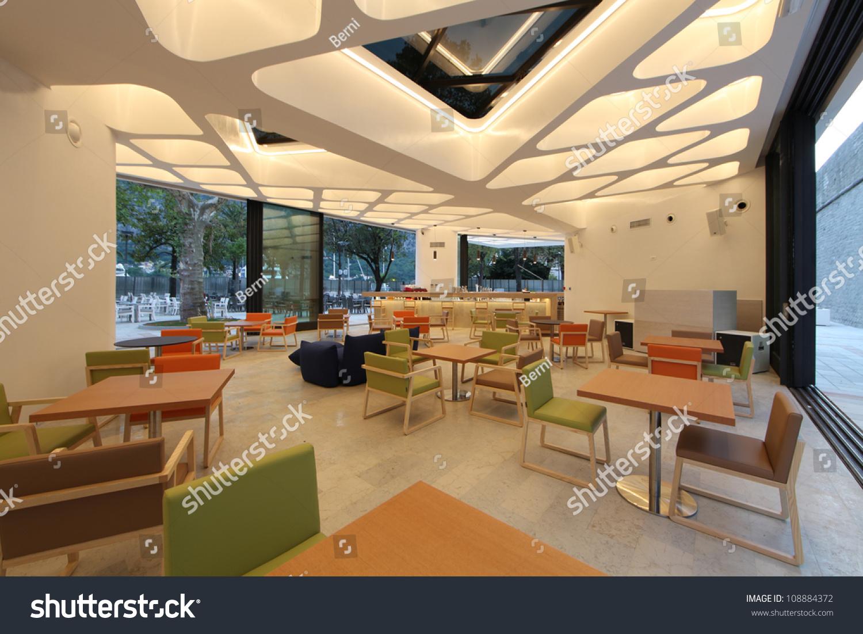 Interior Modern Restaurant Lounge Bar Stock Photo