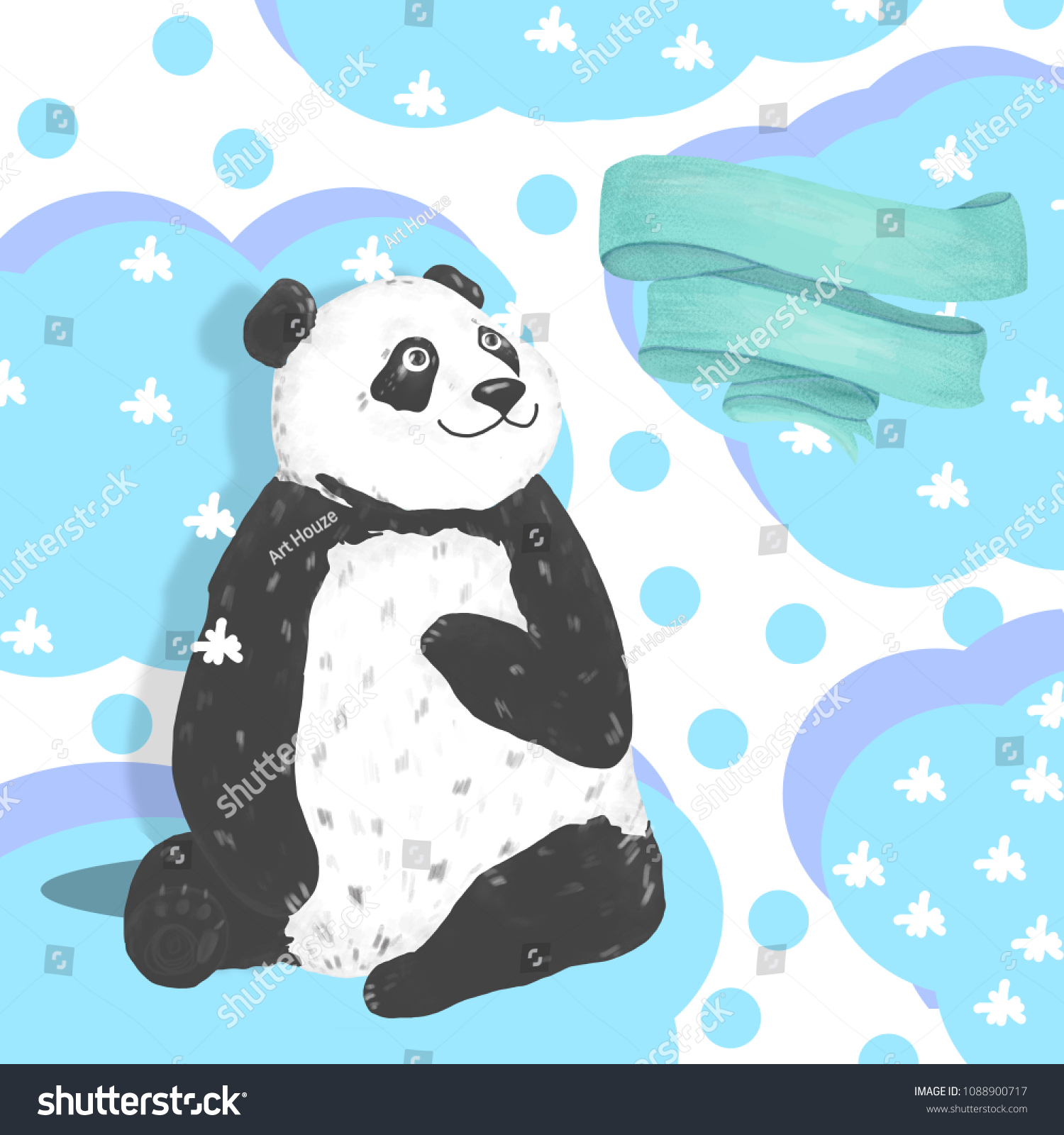 Clipart: happy birthday grandson   Happy Birthday card design with cute  panda bear and boho flowers and floral bouquets illustration. Watercolor clip  art for greeting, invite celebration card. Funny asian bear. Zoo