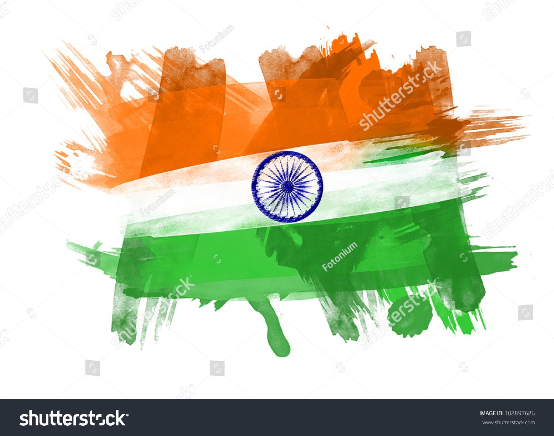 India Flag Black: India Flag Black Background Stock Illustration 108897686