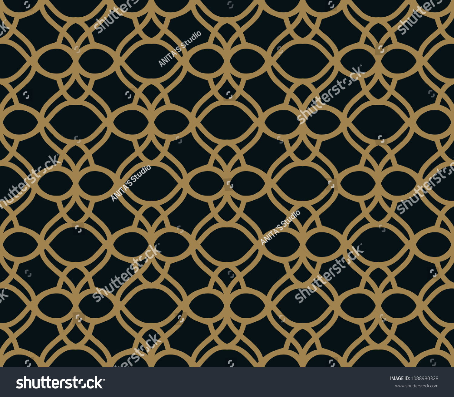 Elegant Linear Ornament Geometric Stylish Background Vector Repeating Texture