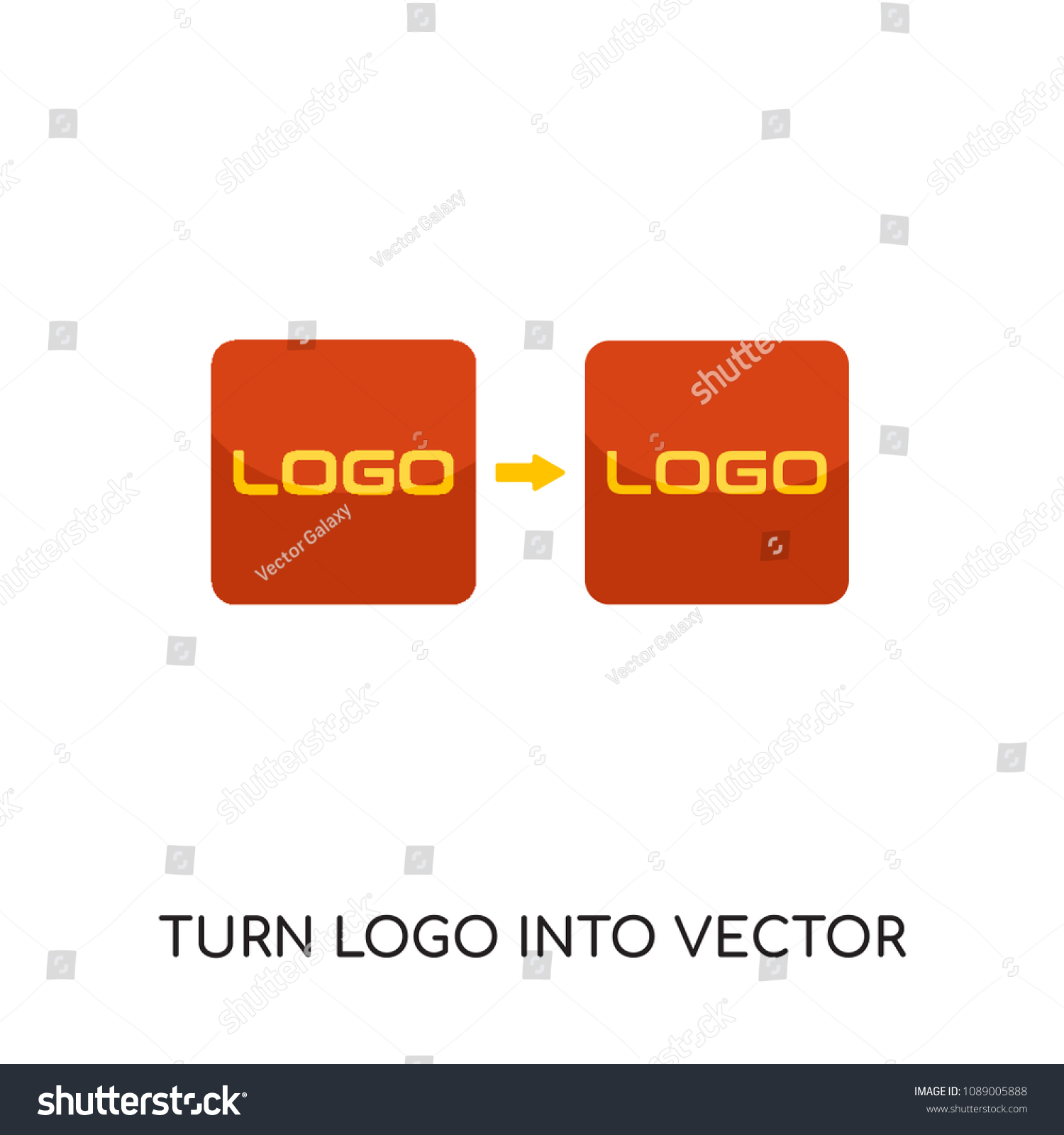 turn logo into vector isolated on stock vector royalty free