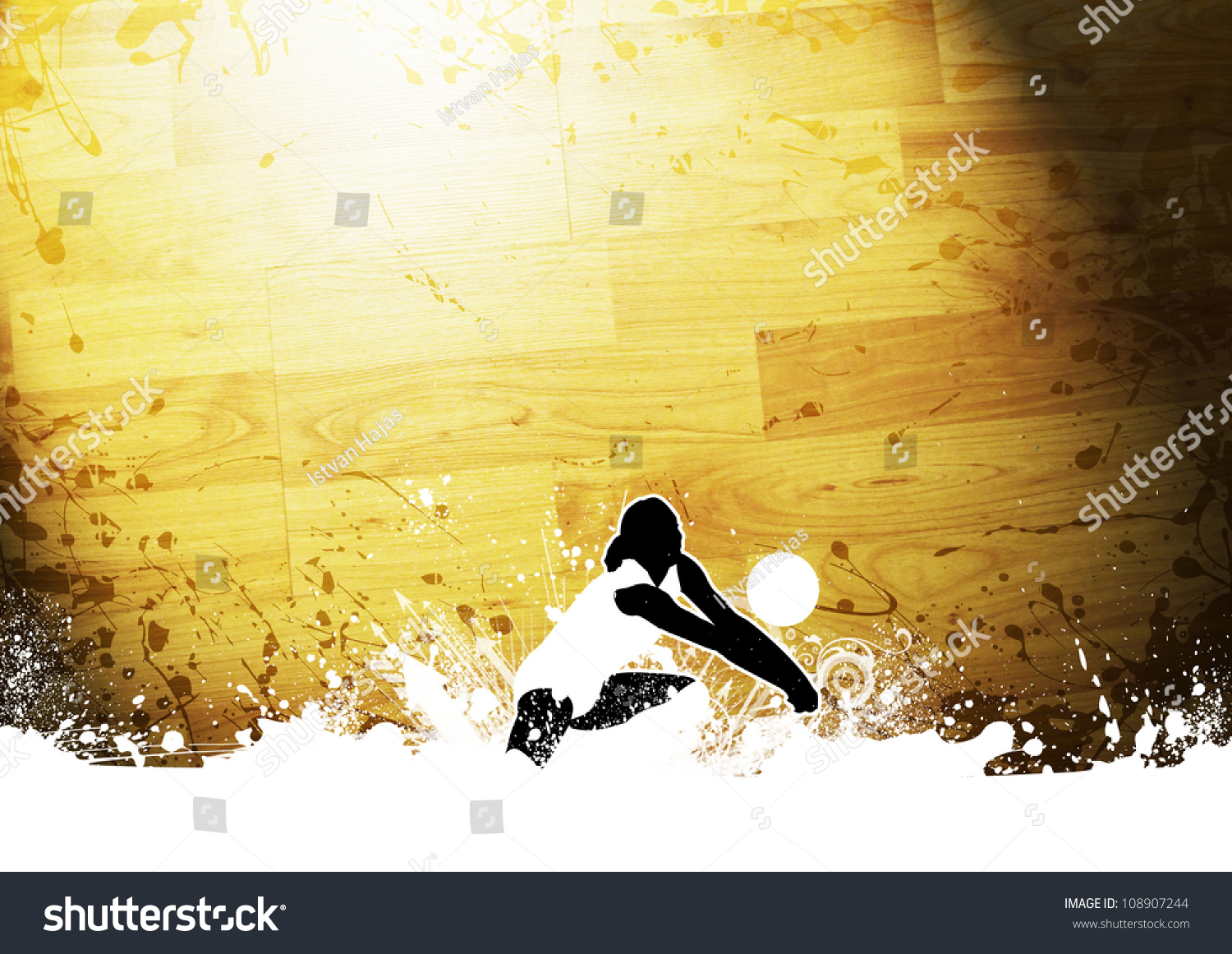 Volleyball Abstract Stock Photos Volleyball Abstract: Abstract Grunge Color Volleyball Background With Space