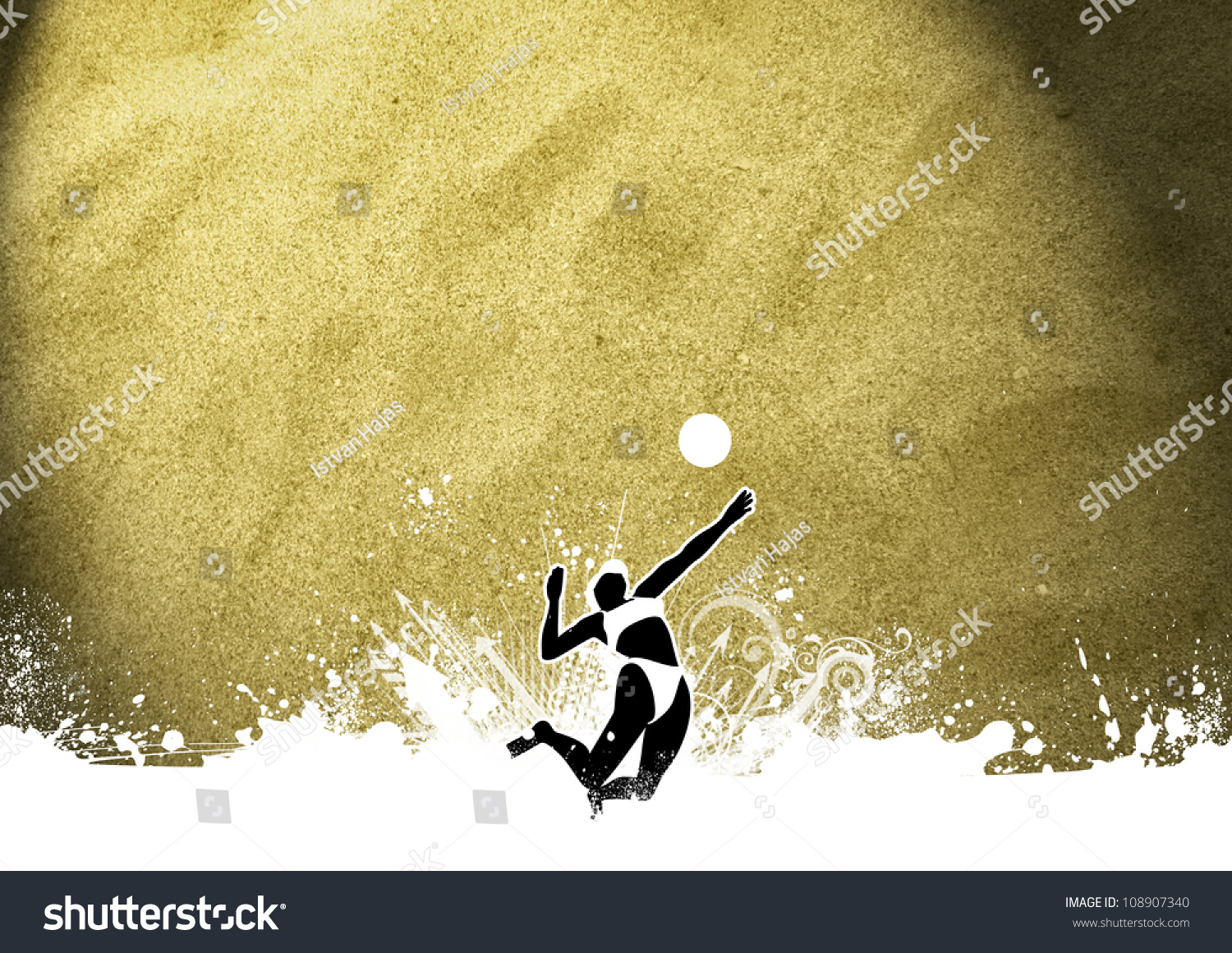 Abstract Grungy Background Volleyball Arrowhead Stock: Abstract Grunge Beach Volleyball Background With Space