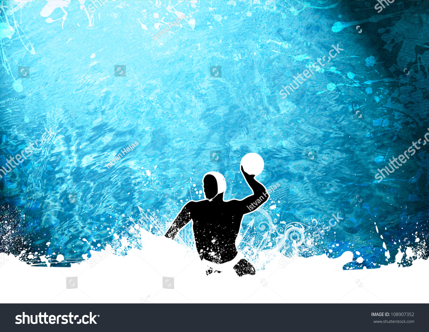 Abstract Grunge Water Polo Background With Space Stock ...