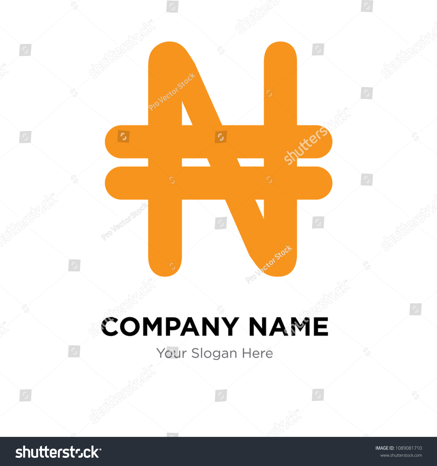 Nigeria Currency Company Logo Design Template Stock Vector Royalty