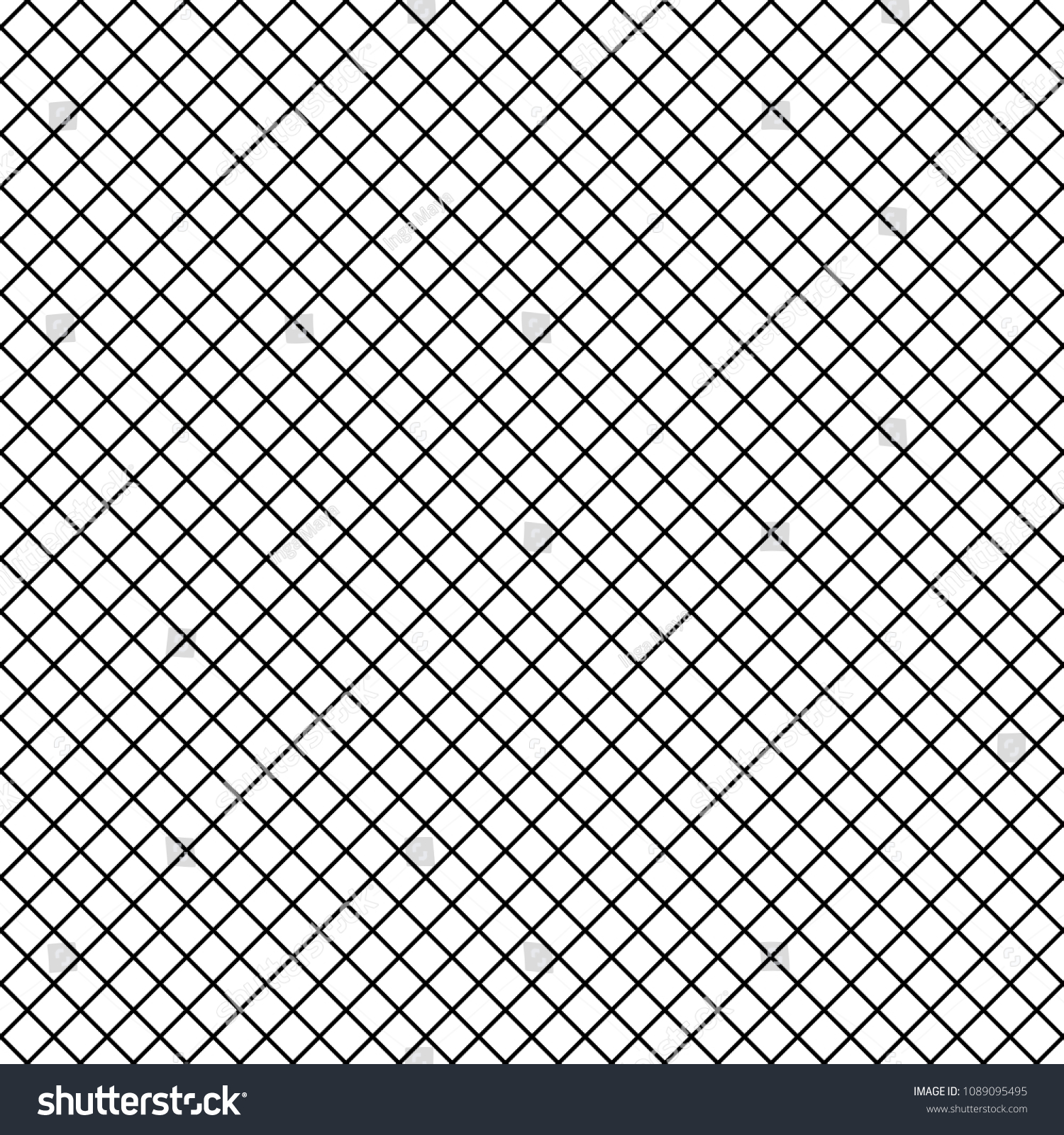 765d69588 Vector Uniform Grid checkered fishnet tights seamless pattern. Black lines  isolated on white background.