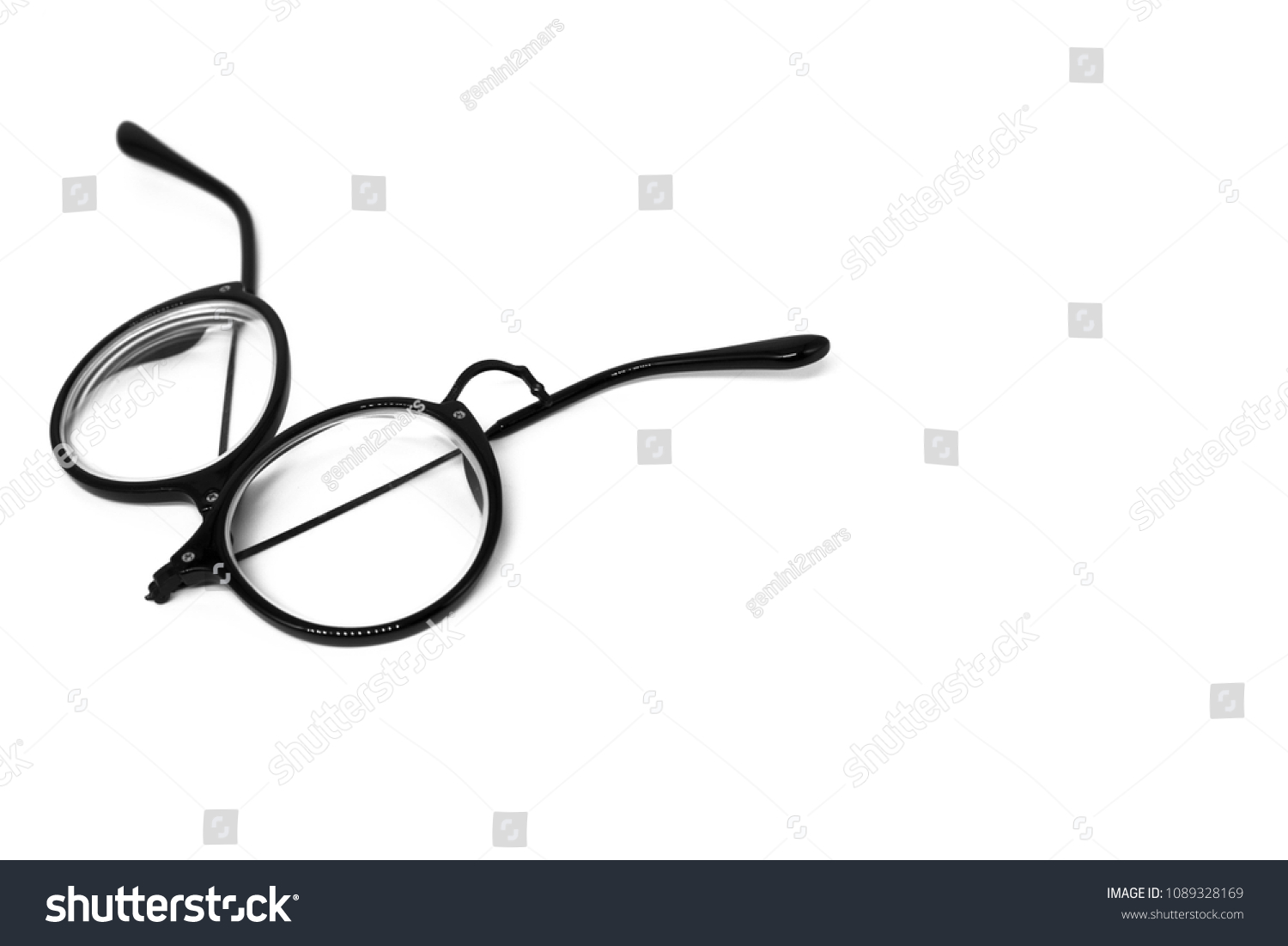 Isolate Broken Eye Glasses On White Stock Photo (Edit Now ...