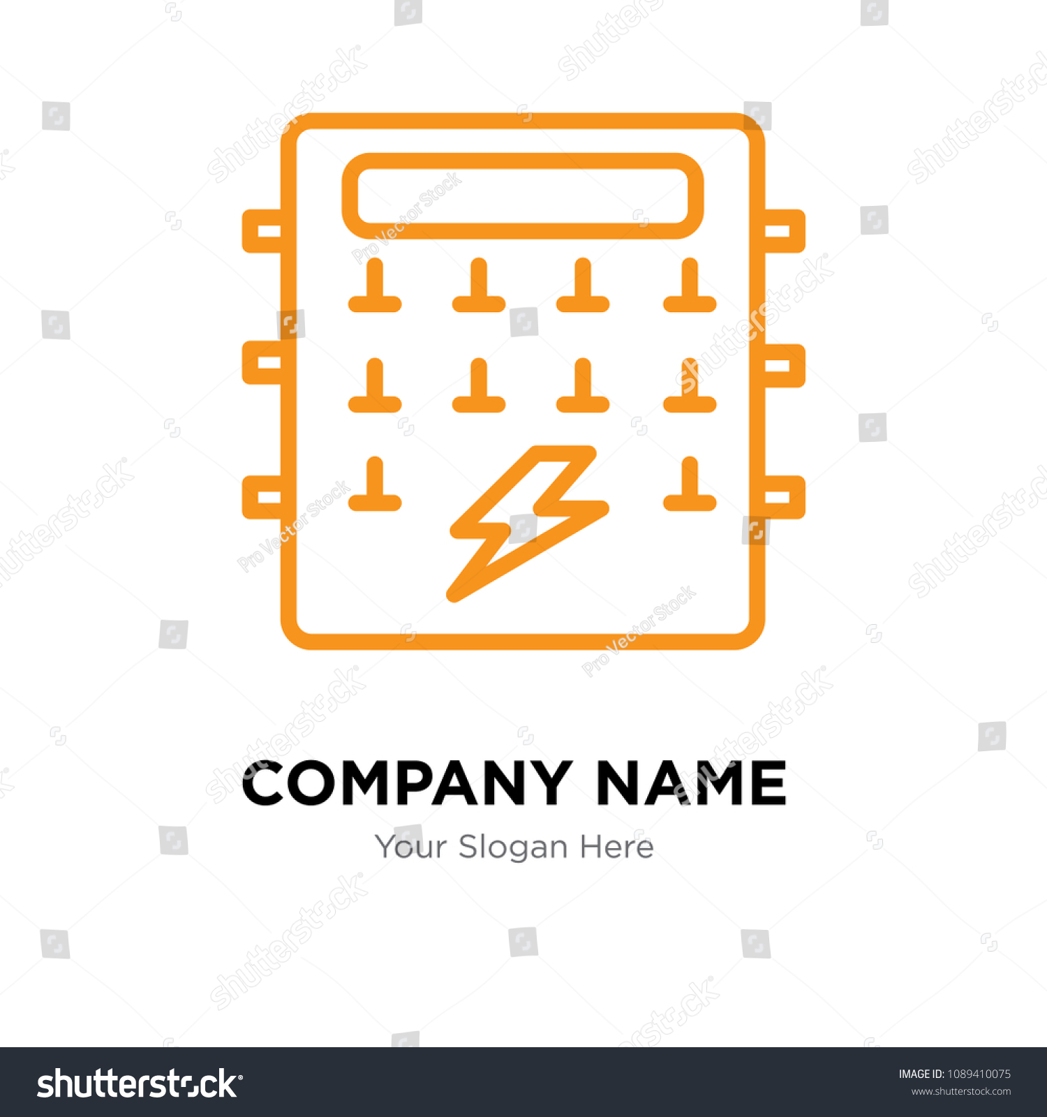 Fuse box company logo design template, Business corporate vector icon, fuse  box symbol