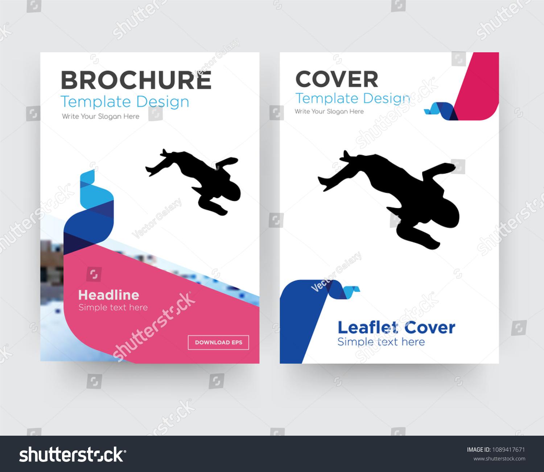 Crime Scene Body Brochure Flyer Design Stock Vector Royalty Free