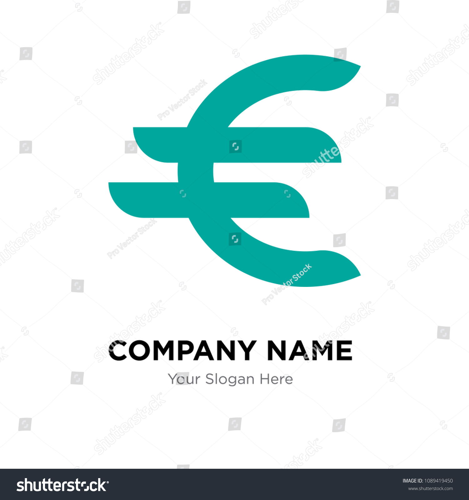 Germany Currency Company Logo Design Template Stock Vector Royalty