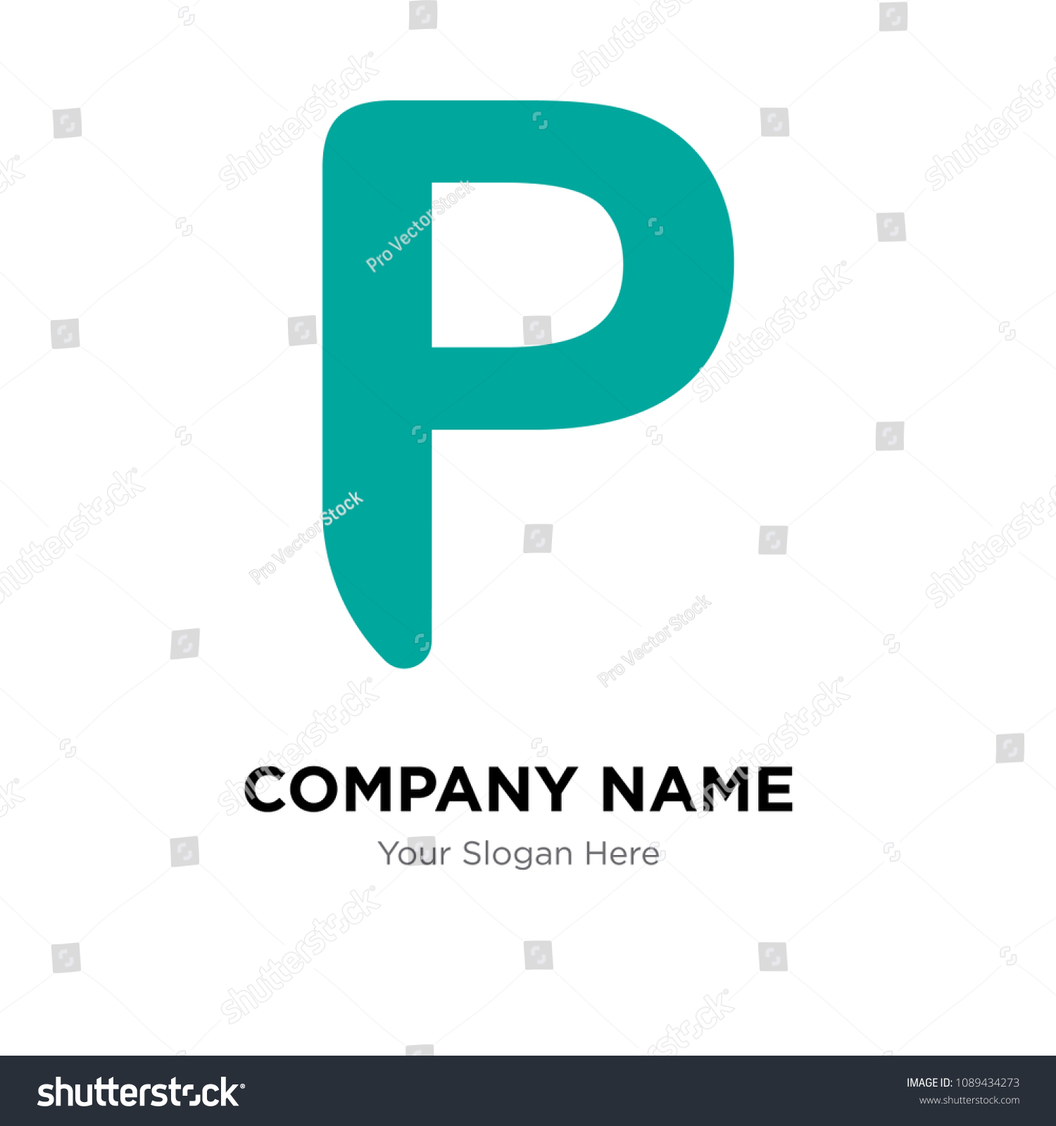 Botswana Currency Company Logo Design Template Stock Vector