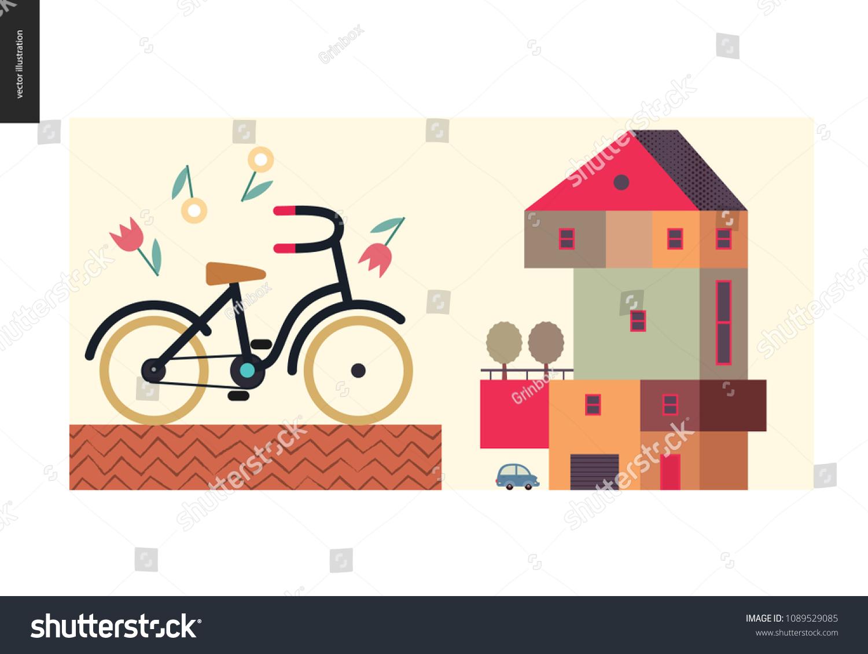 Simple Things Color Flat Cartoon Vector Stock Vector 1089529085 ...