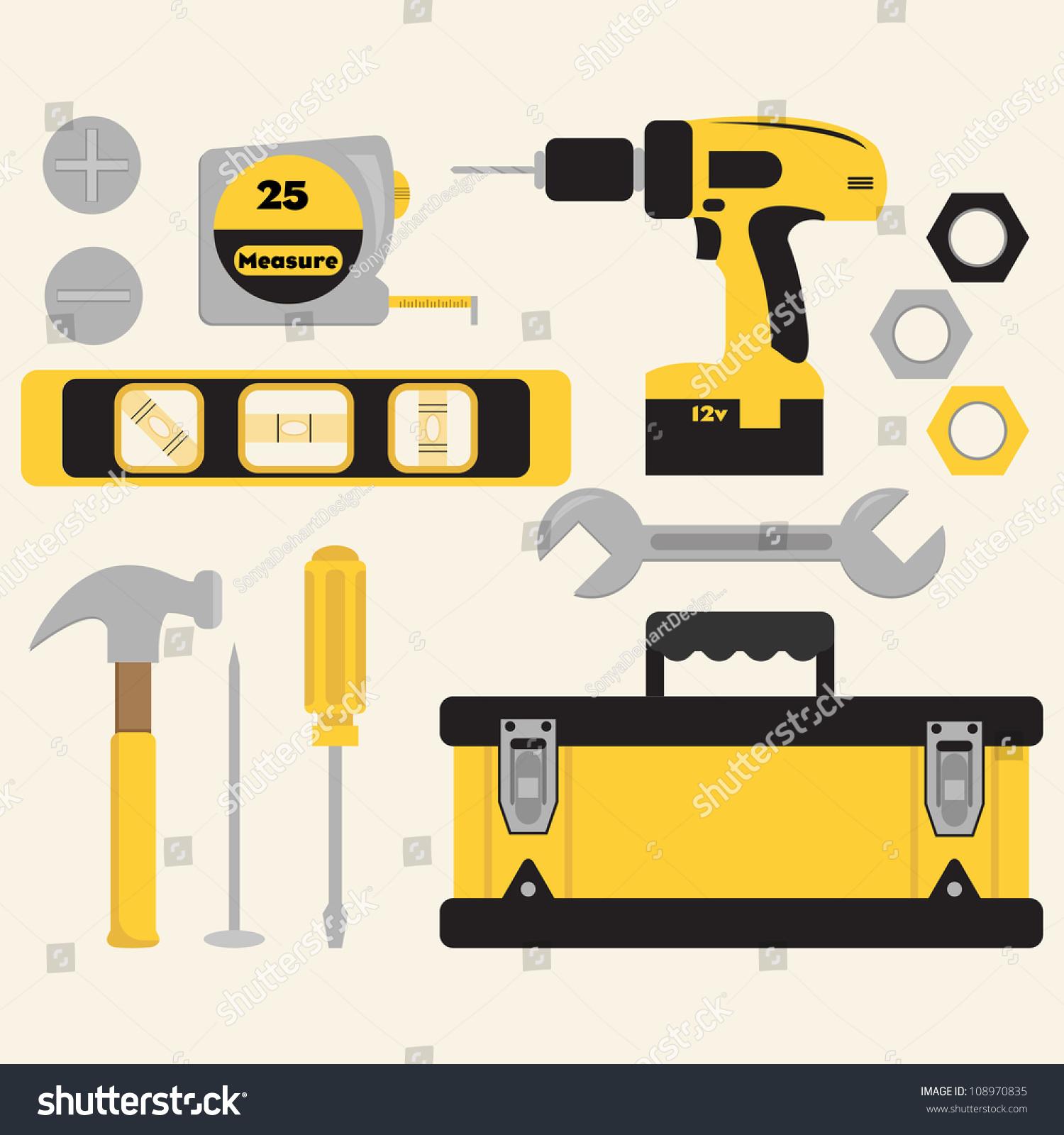 Clip Art Tools Toolbox Set Stock Vector 108970835 - Shutterstock